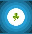 isolated leafage flat icon leaf element vector image