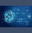 futuristic digital business background vector image