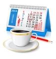 Business sketch on calendar vector image vector image
