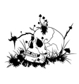 Skull and mushrooms vector image