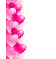 balloons hearts vector image vector image