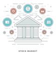 Flat line Business Stock Market Deals Concept vector image