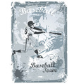 base ball grunge vector image