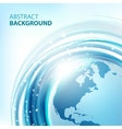 Blue abstract background with Earth vector image