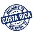 welcome to Costa Rica vector image