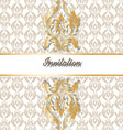 Classic royal gold ornamented vector image
