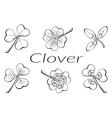 Clover Leaves Pictogram Set vector image