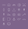 Icons Set in Flat Style vector image
