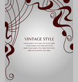 postcard with abstract pattern vector image