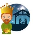 three wise kings manger design design vector image