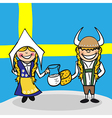 Welcome to Sweden people vector image