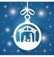 silhouette manger merry christmas design design vector image
