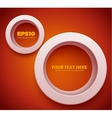 3D Circle frame vector image vector image