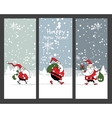 Christmas banners design with Santa Claus vector image