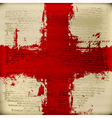 Blood Red Cross vector image vector image