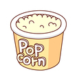 A view of pop corn vector image vector image