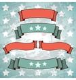 Set of Retro Patriotic Banners vector image