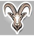 goat sticker vector image