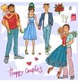 Happy Couples vector image