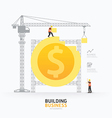 Infographic business dollar coin shape template vector image vector image