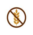 gluten free vector image