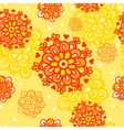 Seamless pattern with autumn flowers vector image