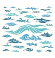 Waves set of elements vector image