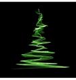 Abstract christmas green tree vector image