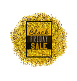 Big Black Friday Sale golden glitter vector image