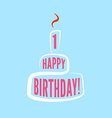 Birthday greetings modern poster template vector image