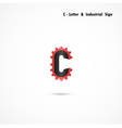 C-letter and gear icon vector image
