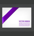 corner ribbon vector image
