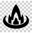 fire location icon vector image