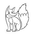 fox coloring book vector image
