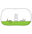 happy bunny easter vector image