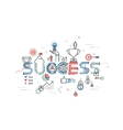 Modern thin line design concept for success vector image
