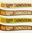 ribbons for thanksgiving day vector image