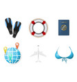 set of summer vacation objects 2 vector image