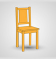 wooden chair isolated on a white background vector image