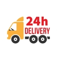 24 Hour Delivery Icon Next Day Shipping Flat vector image vector image