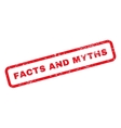 Facts And Myths Text Rubber Stamp vector image