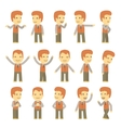 urban character set in different poses simple flat vector image