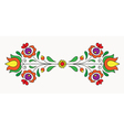 hungarian folk motif vector image vector image
