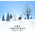 Christmas card with reindeer vector image vector image