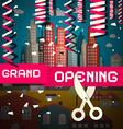Grand Opening with Confetti and Scissors on vector image vector image