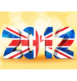 2012 union jack vector image vector image