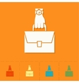 Hand Holding Suitcase vector image
