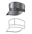 leather cap vector image vector image