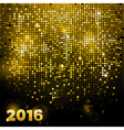 Sparkling gold mosaic 2016 vector image vector image