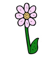 comic cartoon flower vector image vector image